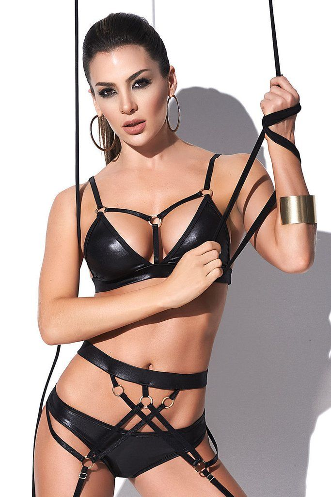d6db39eec Mapale 2443 Two Piece Set with Garter Color Black