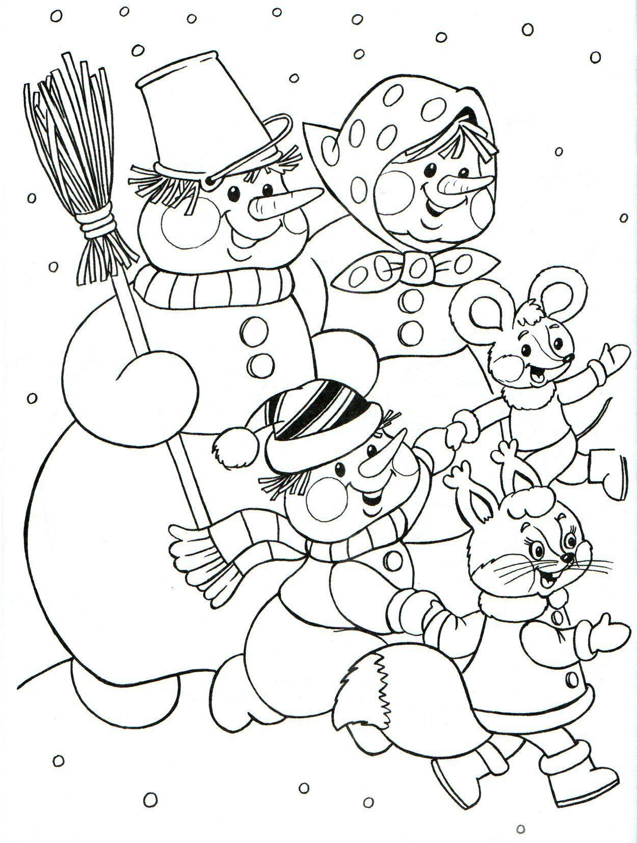 художник В .А. Жигарев | Рождественские раскраски ...