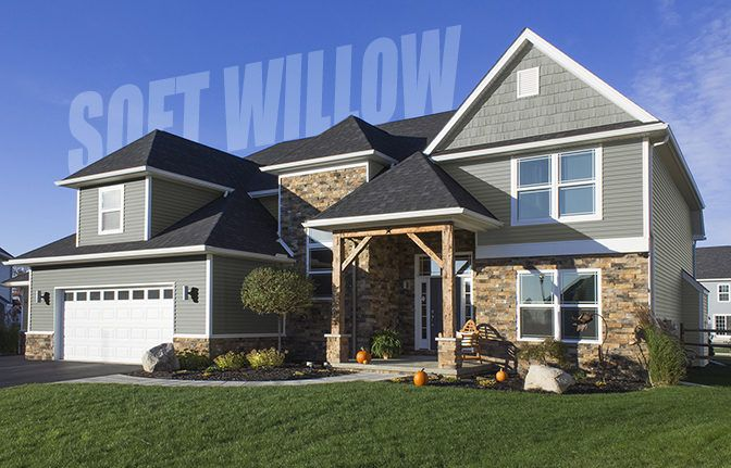 Soft Willow Vinyl Siding House Styles House Exterior House Siding