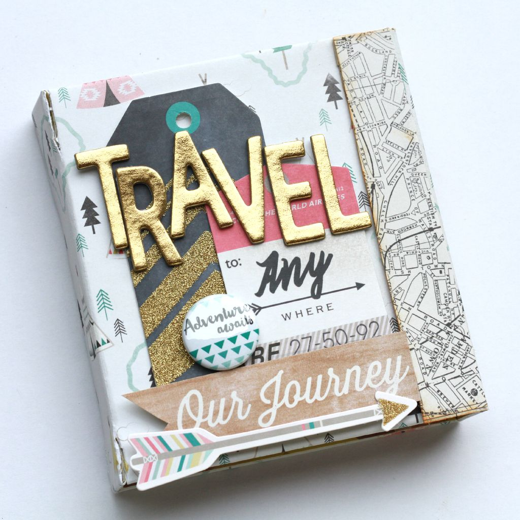 How to make scrapbook album cover - Cassandra Here Today To Share A Short Tutorial On How To Make A Diy Magnetic Album Using The June Kit Filled With