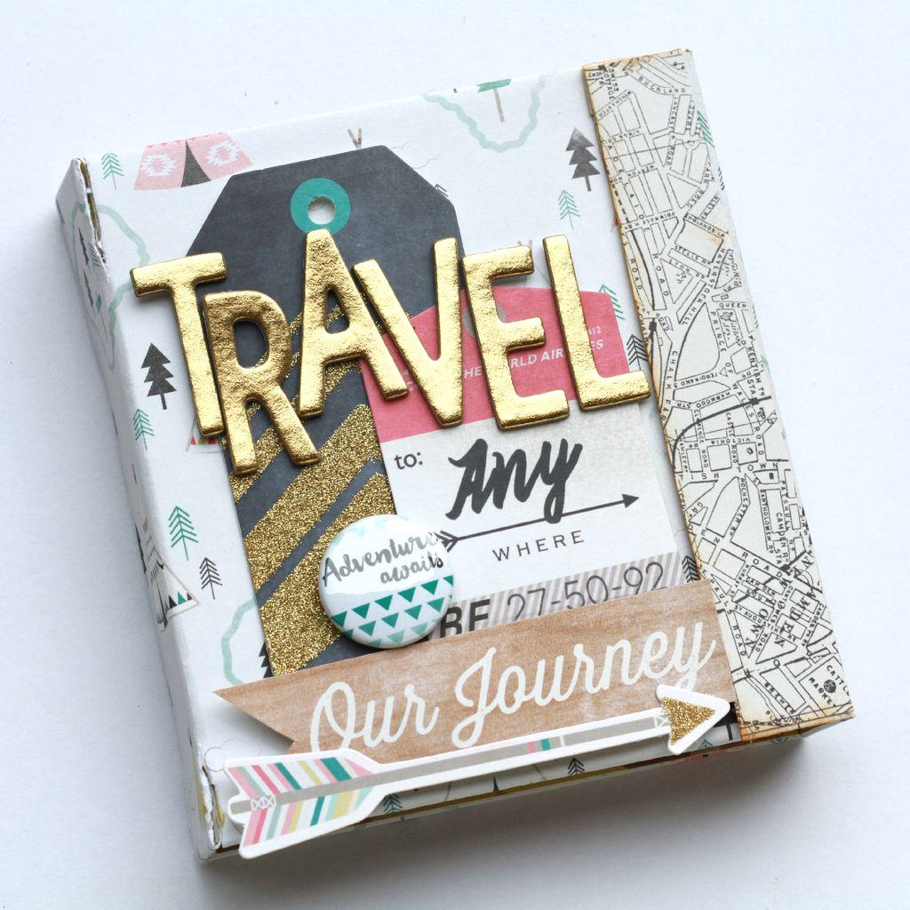 Diy album tutorial scrapbook cover diy travel