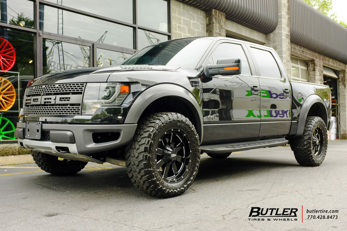 Ford Raptor with 20in Black Rhino Warlord Wheels | Butler Tire Trucks | Pinterest | Ford raptor, Ford and Wheels