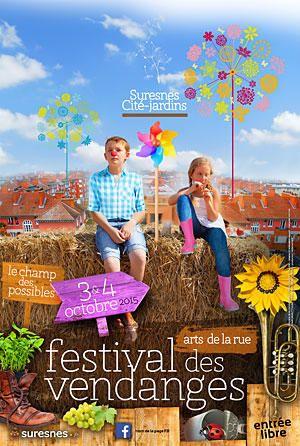 Samedi 3 et dimanche 4 octobre 2015. 32e édition du Festival des Vendanges, Suresnes.  Animations, spectacles et dégustations dans les rues de Suresnes.
