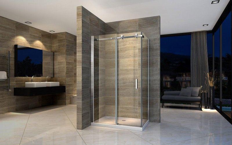 Duschkabine Nano Echtglas EX802 - 90 x 120 x 195 cm inkl Duschtasse - badezimmer badewanne dusche