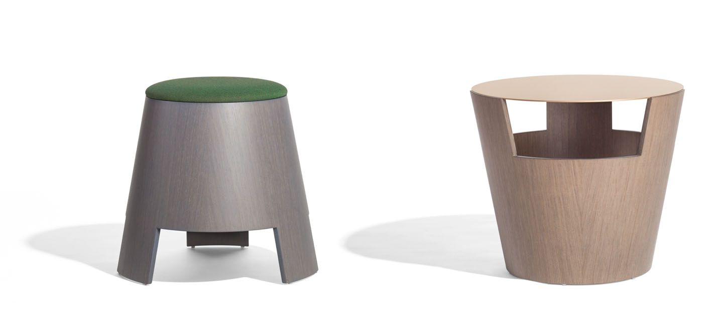 Bell pouffe/small table