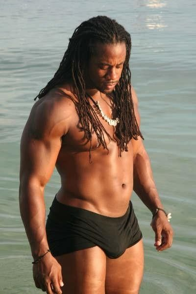 sexy black male with dreds