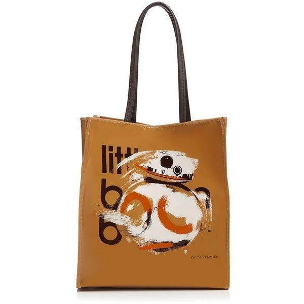 Bloomingdale's Limited Edition Star Wars: The Force Awakens Bb-8 Tote ($30) ❤ liked on Polyvore featuring bags, handbags, tote bags, brown, brown purse, print bags, print handbags, bloomingdales bags and white handbags