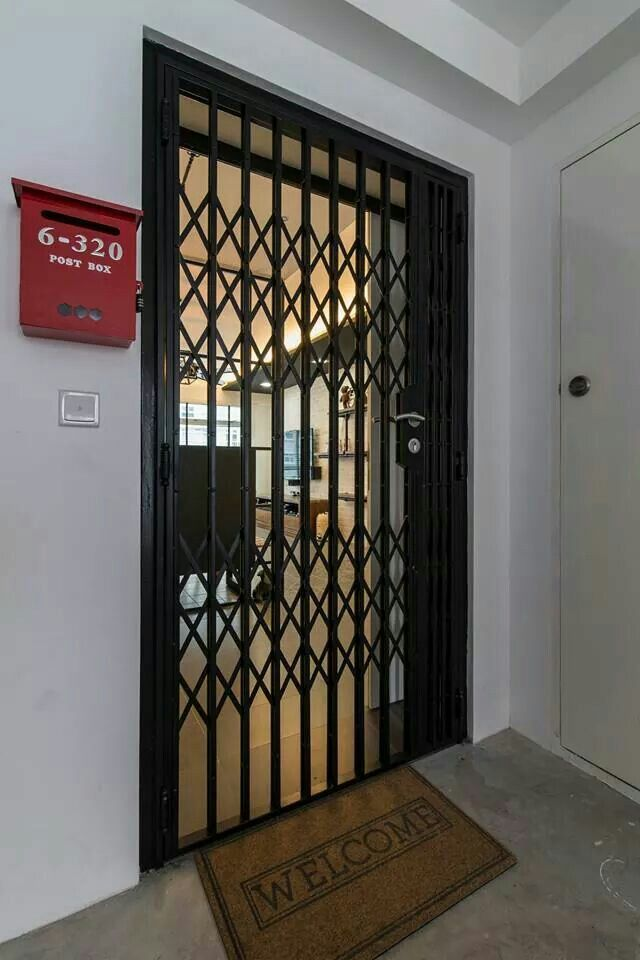 Vintage gate at the entrance of a hdb flat i like ideas for the house pinterest gate vintage and doors