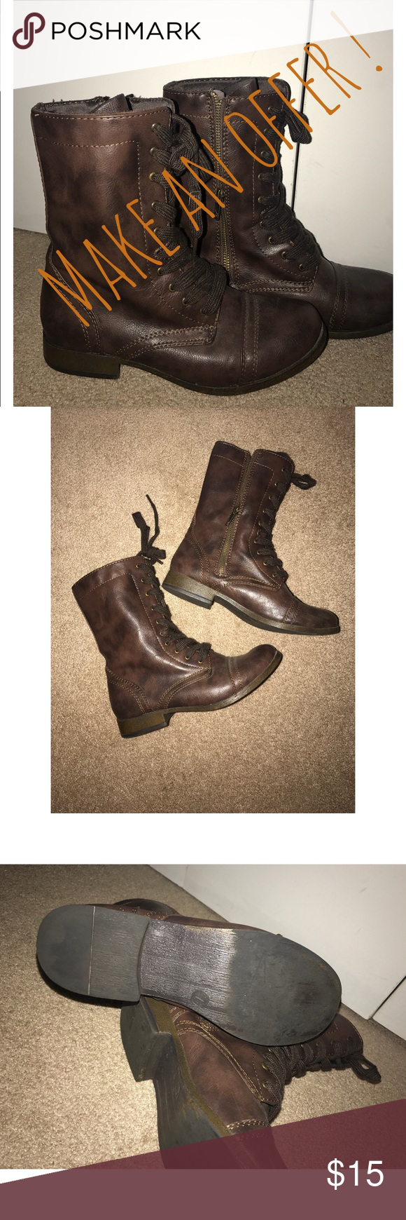 Brown Lace Up Boots Perfect for fall