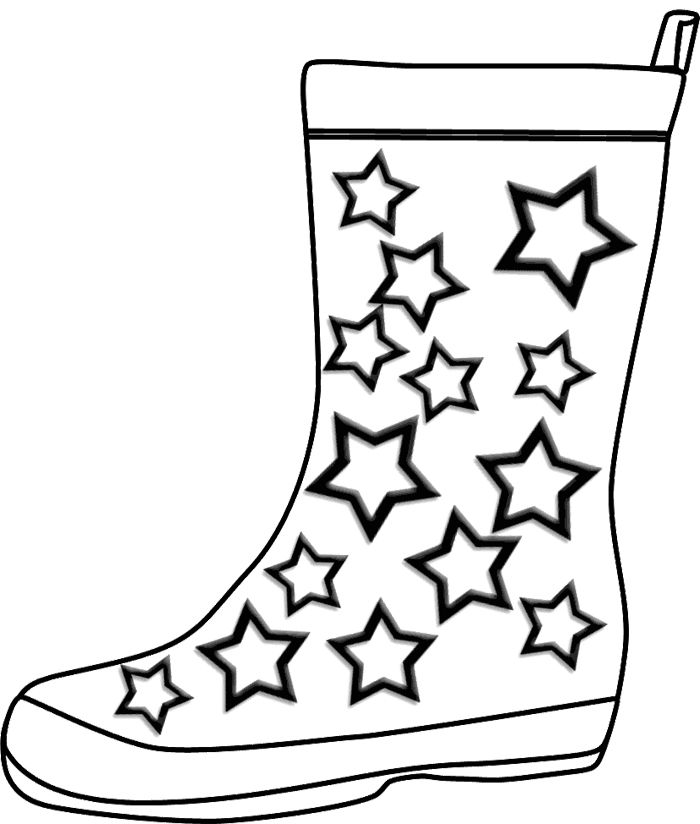 Winter Boots Coloring Page coloring pages Pinterest Craft