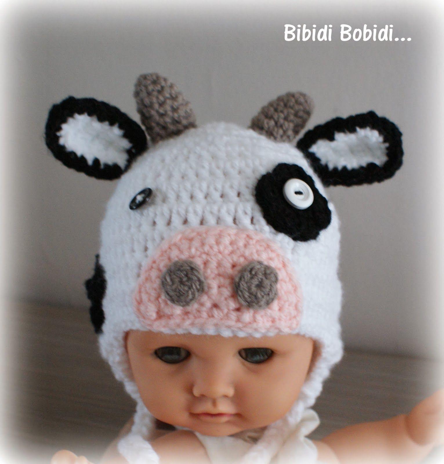 bonnet vache crochet