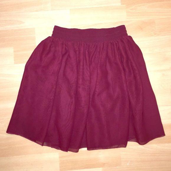 American Apparel chiffon skirt! Burgundy chiffon short skirt form American apparel. American Apparel Skirts Circle & Skater
