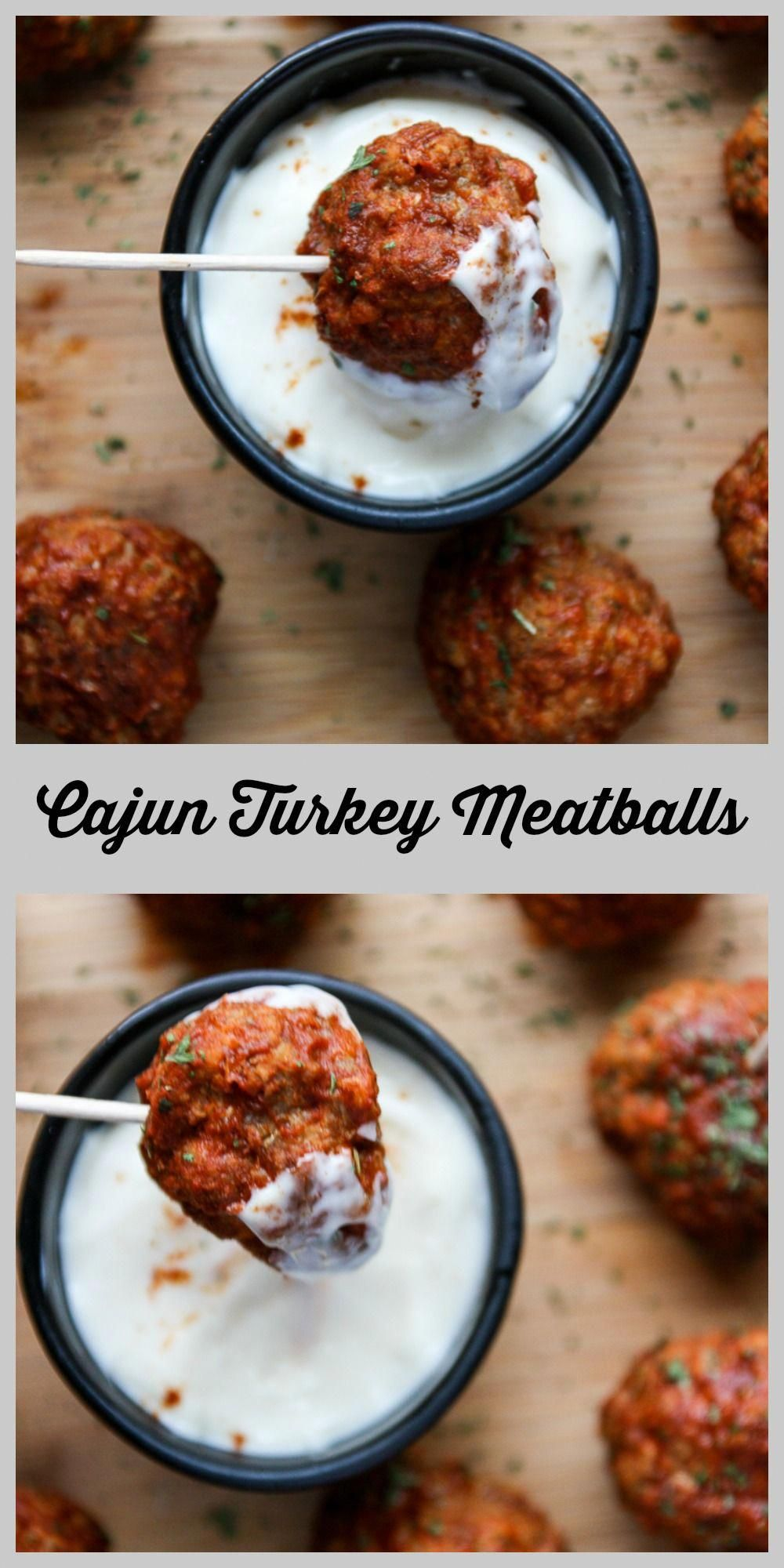 Cajun Turkey Meatballs - Party Meatballs | The Food Blog