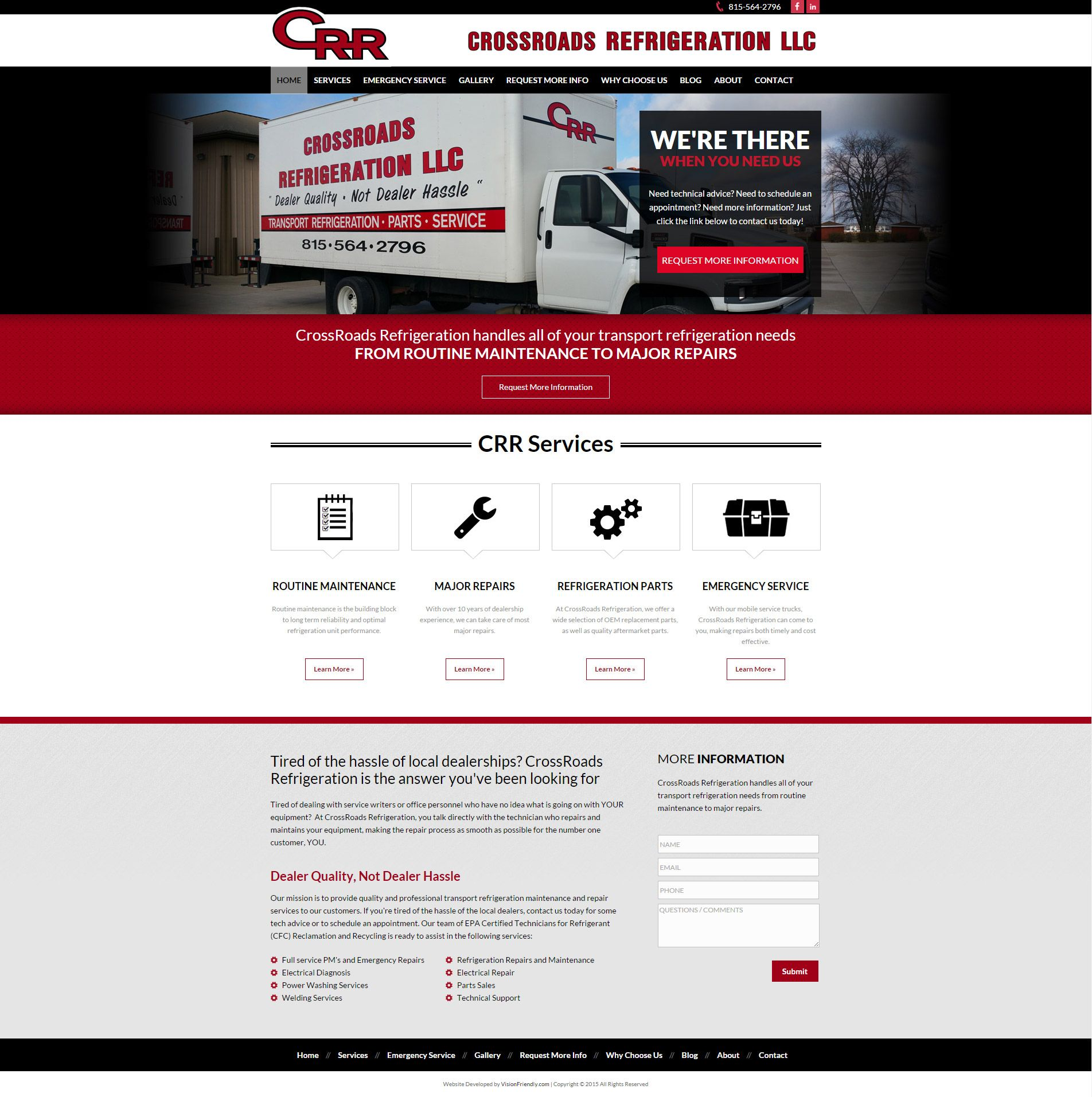 Full Width Red Black And White Web Design By Visionfriendly Com Web Design Website Design Design
