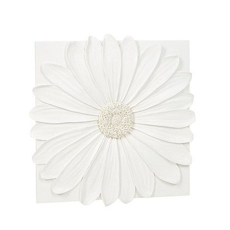 Resin Wall Art debenhams ivory daisy resin wall art- | debenhams | eliz kitchen