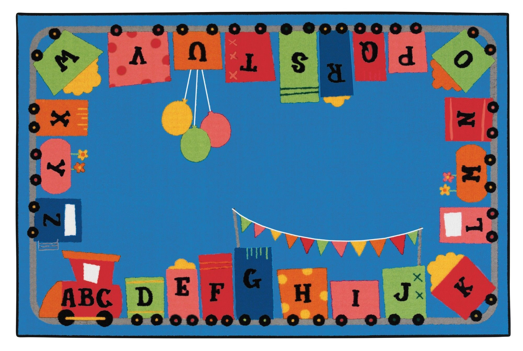 Alphabet Fun Train Kids Rug