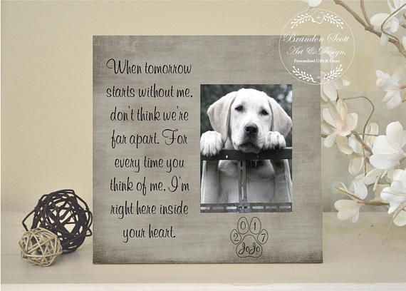 Pet sympathy gift, pet loss frame, dog memorial, cat memorial, Personalized pet loss gift, Memorial for dog, dog passing gift