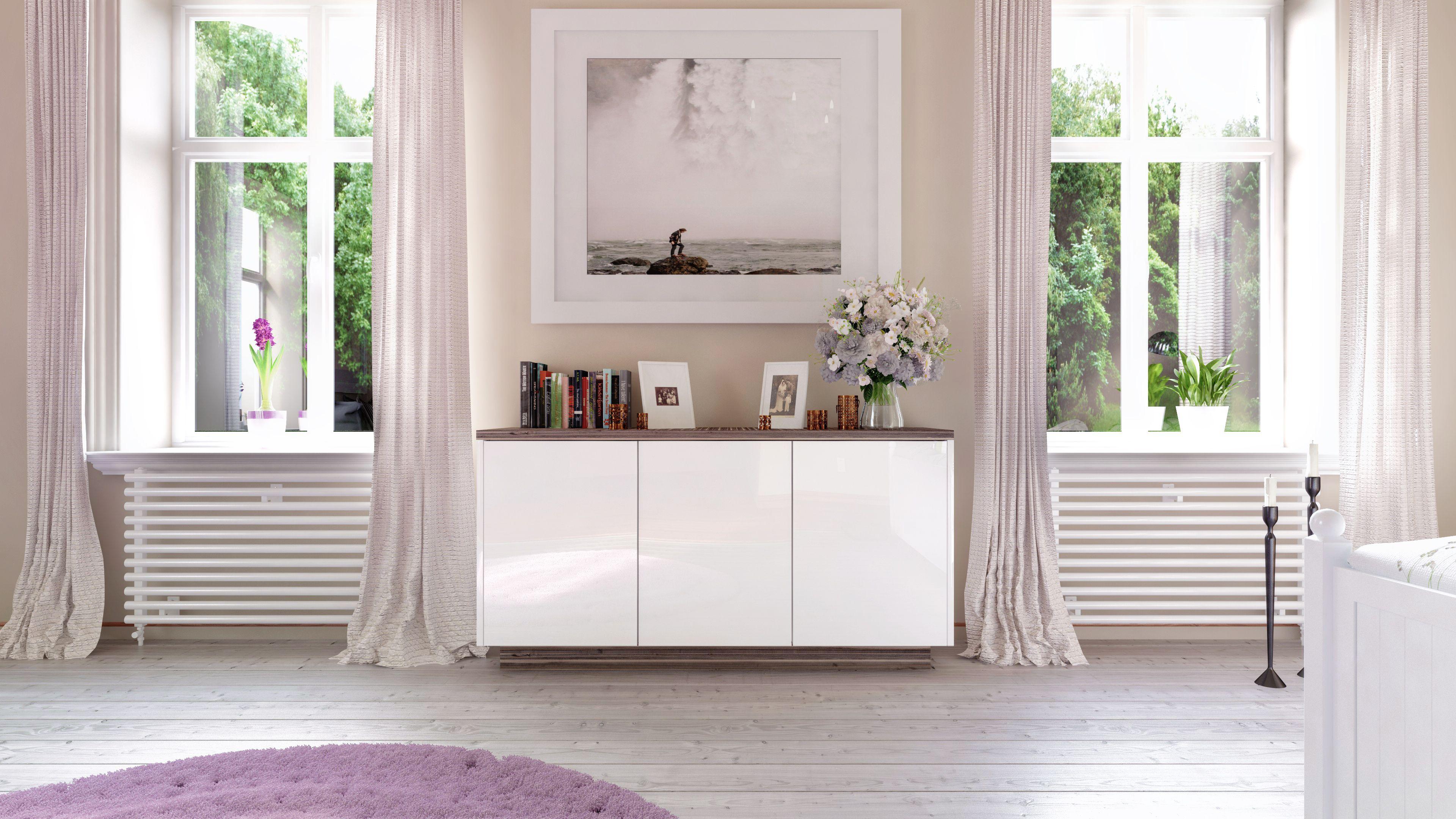Schlafzimmer Anrichte ~ Das weiße sideboard nach maß von deinschrank.de rundet das