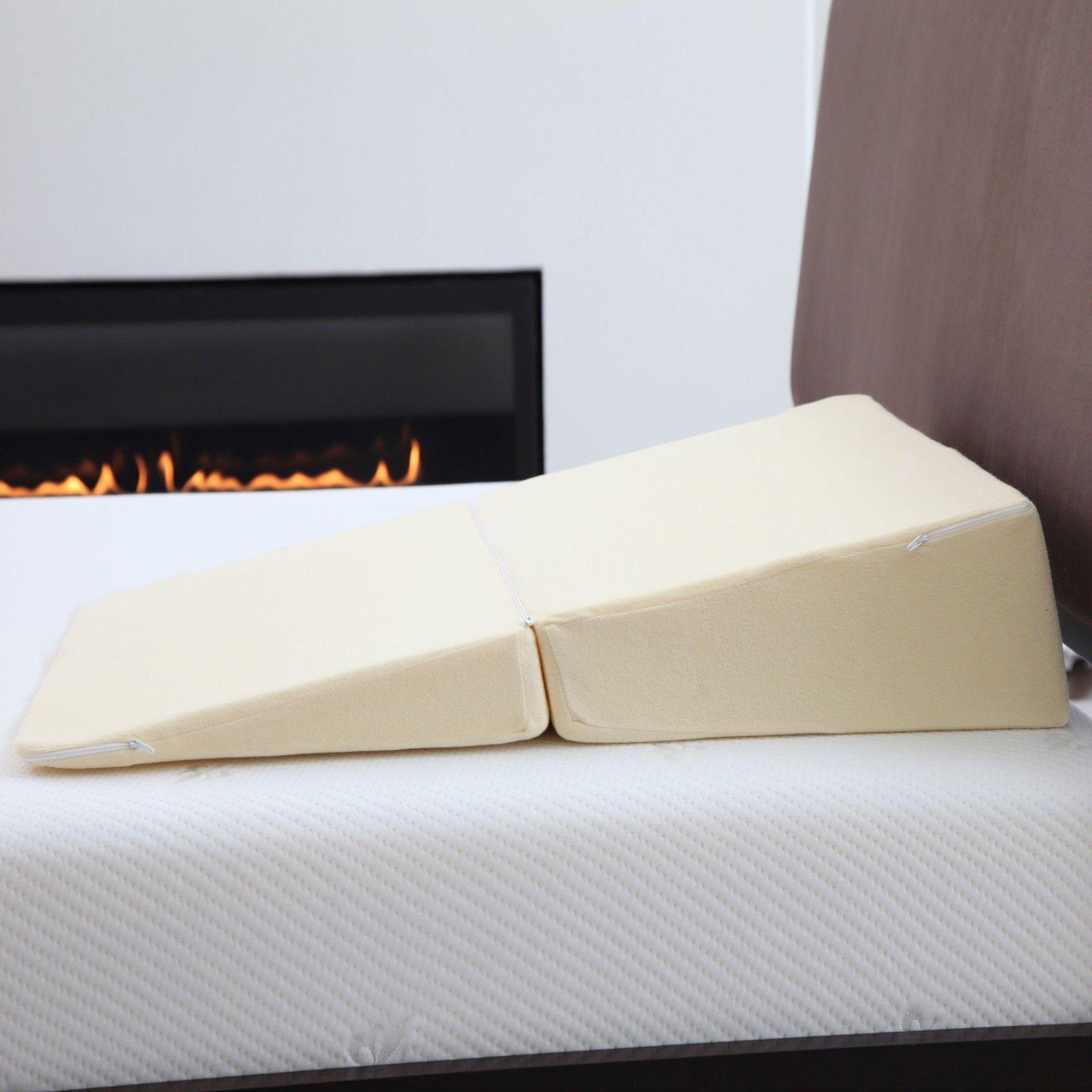 remedy natural pedic folding wedge memory foam pillow for acid