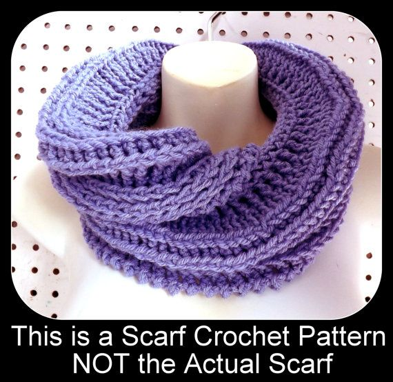 Crochet Scarf Pattern Folded Collar Scarf By Strawberrycouture