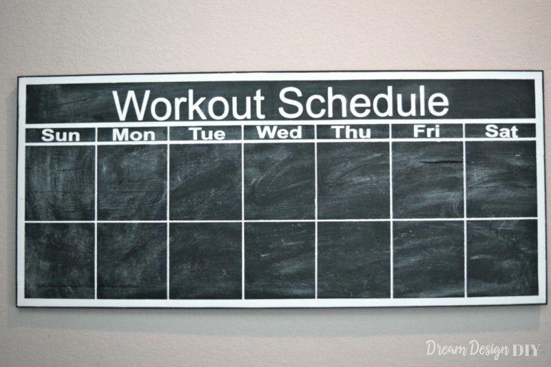 How to Make a Chalkboard Workout Calendar Workout calendar