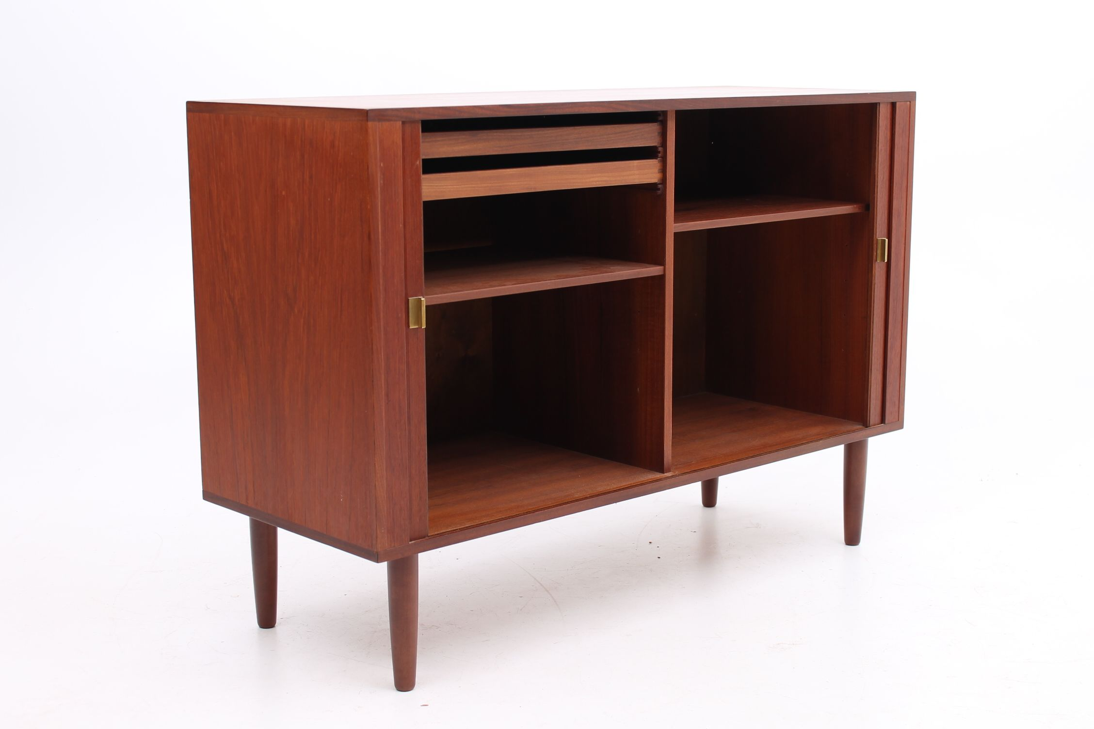 Roll Front And Brass Handles Adjustable Shelfs And Drawers Inside