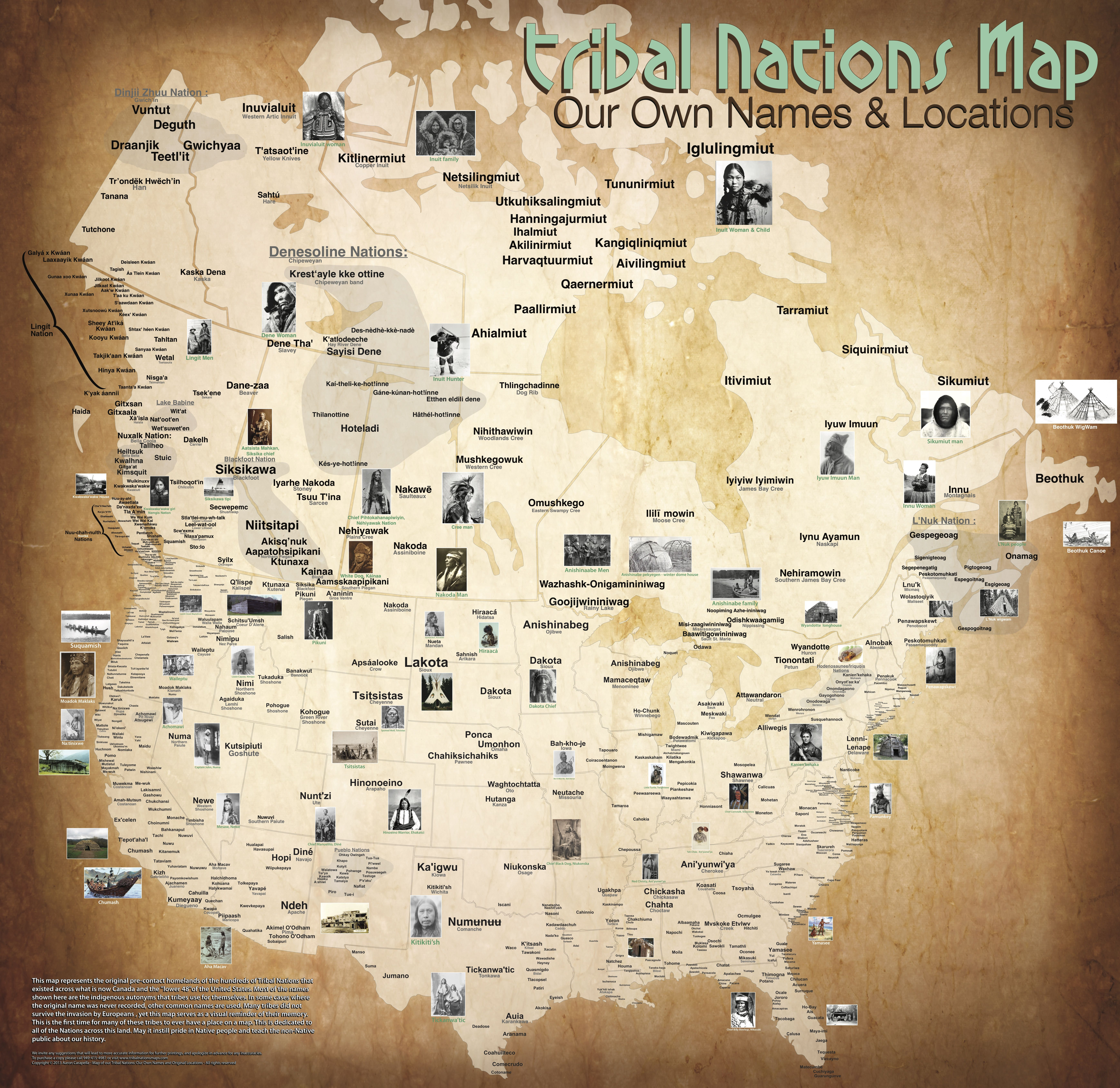 Tribal Nations Map Our own names & Locations Native
