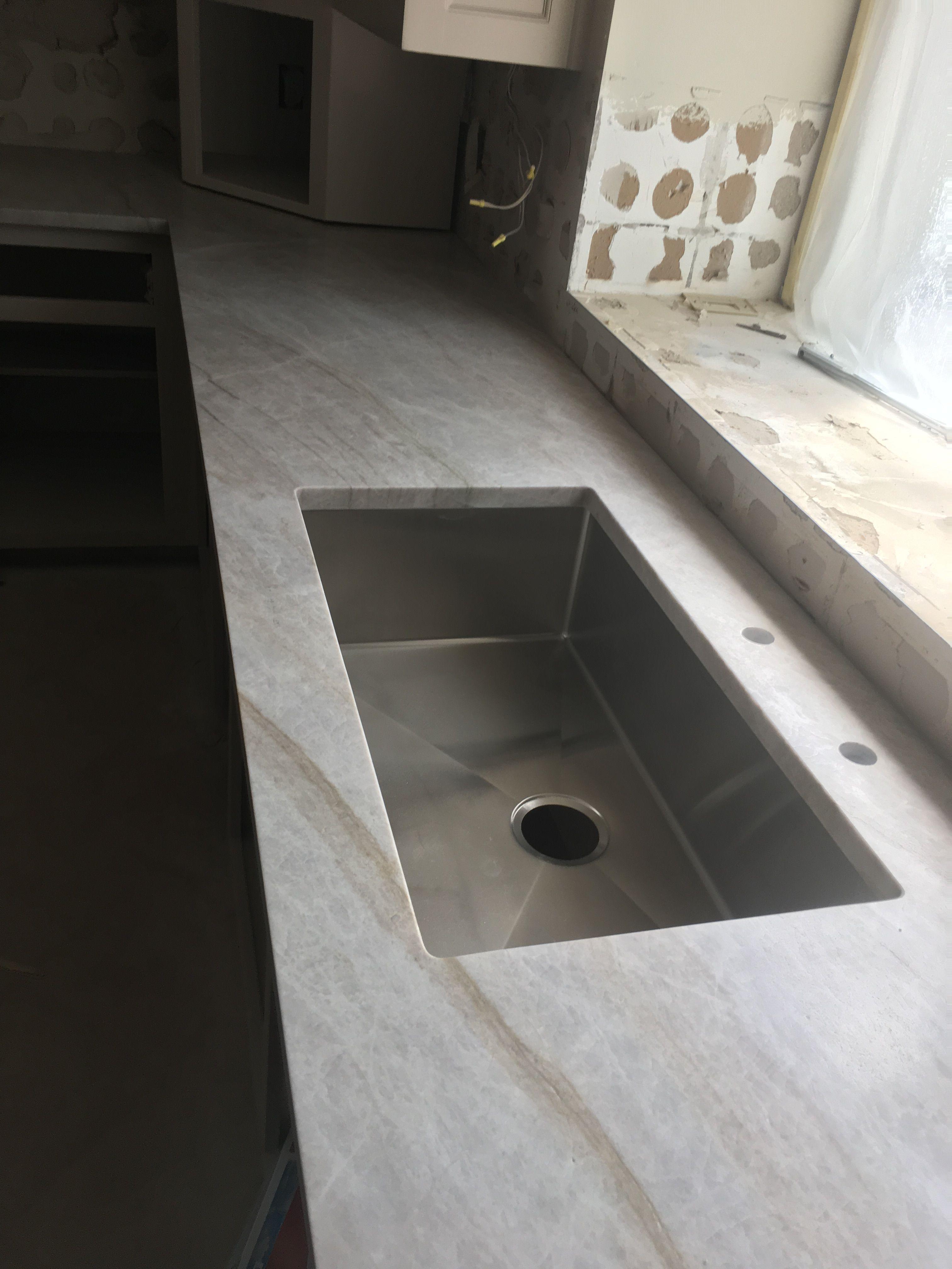 Taj Mahal Leathered Quartzite Kitchen Countertops Kitchen