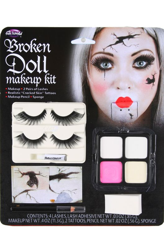 Broken Doll Face Make-Up Kit   Doll face, Costumes and Halloween ...
