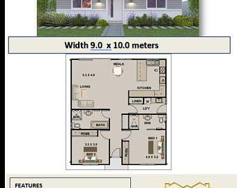 Marvelous 785 Sq Foot | 73 M2 | Two Bedroom | Granny Flat 2 Bed | Two Bedroom Granny  Flat | Modern Granny Flat | House Plans Granny Flat | Plans