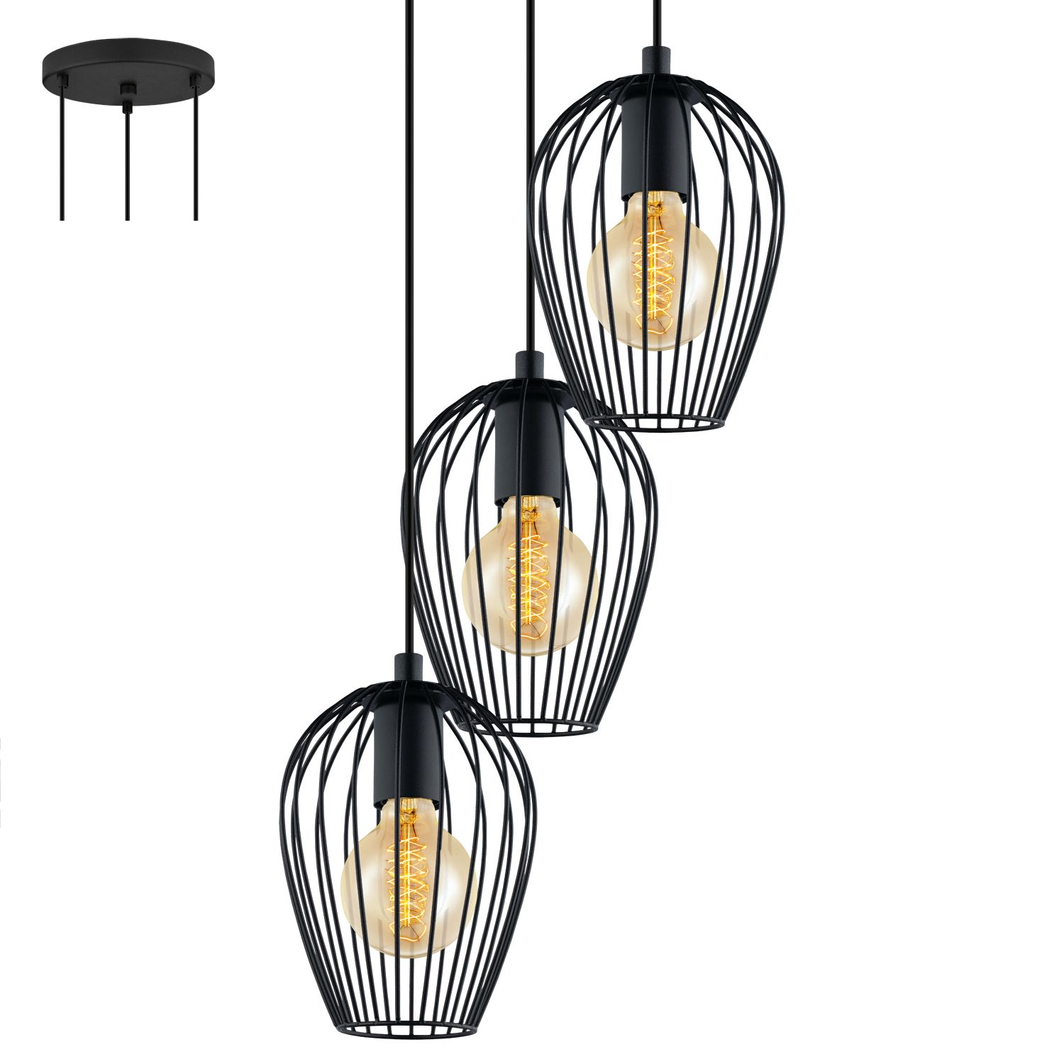 Eglo Led Visilice Eglo Newtown Luster 49479 Dream Home Cage Pendant