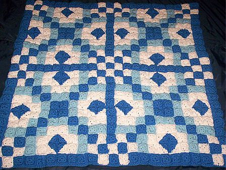 Chains Diamonds Crochet Quilt Crochet Afghans Blankets Throws