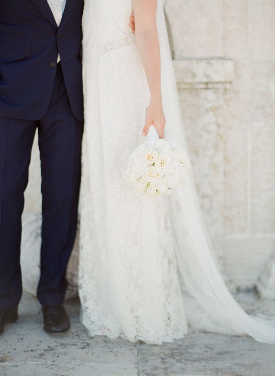 Photography: Greg Finck Photography   www.gregfinck.com Wedding Dress: Laure De Sagazan   www.themewsnottinghill.co.uk Floral Design: Jasmine Lazzari For The Wedding Company   www.theweddingcompany.pt/   View more: http://stylemepretty.com/vault/gallery/38304