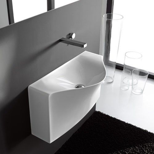 One Shot Back Wall Hung Washbasin Osl007 By Art Ceram