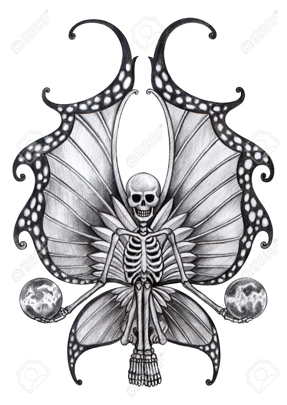 Stock Photo Fairy tattoo, Skulls drawing, Skull pictures