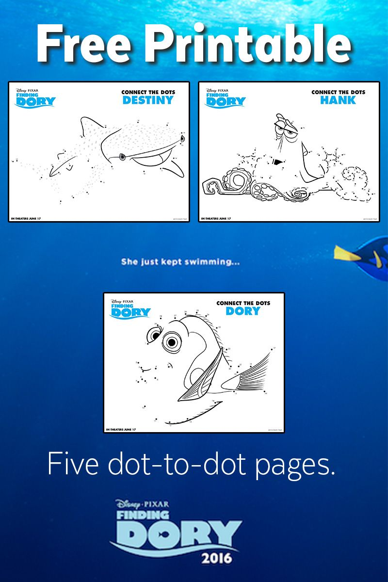 Finding Dory Dot To Dots Free Printable Finding Dory