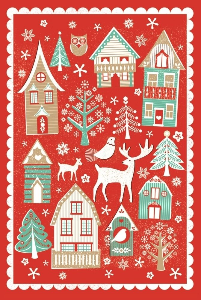 10 Nordic Christmas Cards From National Trust Christmas Prints Nordic Christmas Christmas Illustration
