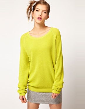 Peter Jensen Waffle Knitted Jumper in Cotton