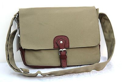 """Khaki #vintage #canvas #laptop notebook 13"""" multi use messenger bag case shoulder,  View more on the LINK: http://www.zeppy.io/product/gb/2/331857204682/"""