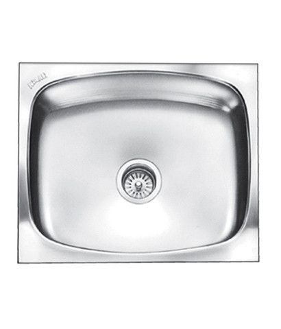 buy nirali grace plain 304 stainless steel kitchen sink 2418 inches with coupling satin - Nirali Kitchen Sinks