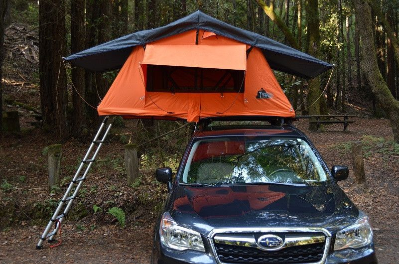 Kukenam Ruggedized roof top tent front view Subaru roof top tent & Kukenam Ruggedized roof top tent front view Subaru roof top tent ...