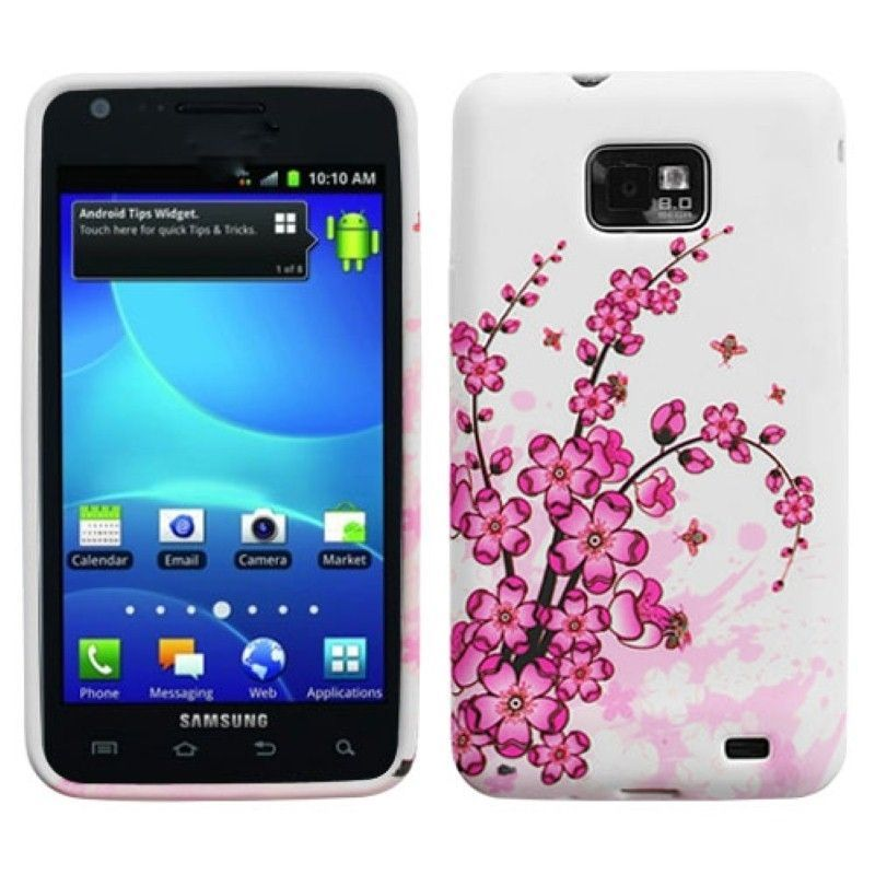 Insten Spring Flowers Candy Skin Phone Case Cover for Samsung i777 Galaxy S II, #1118972