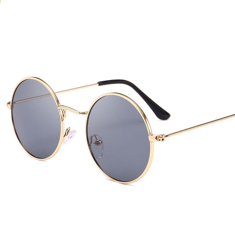 bc2daf43eb3 YWSX Ochelari de soare pentru ochelari de soare rotunde din oțel inoxidabil  pentru bărbați Femei Retro Eyewear Ochelari de soare mici