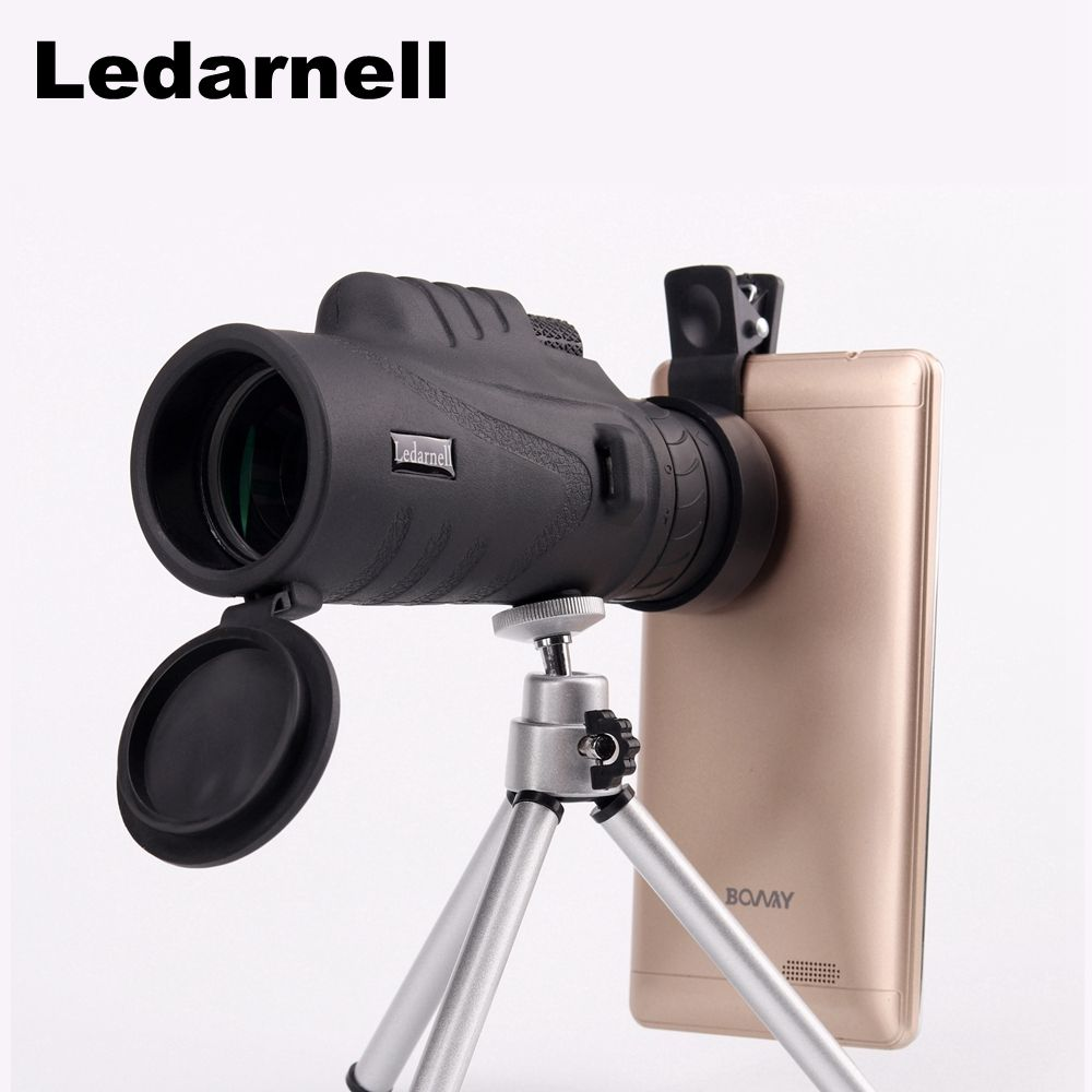 Monocular 10x42 high quality Telescope Waterproof Compact Monocular military high power telescopio for hunting optics black