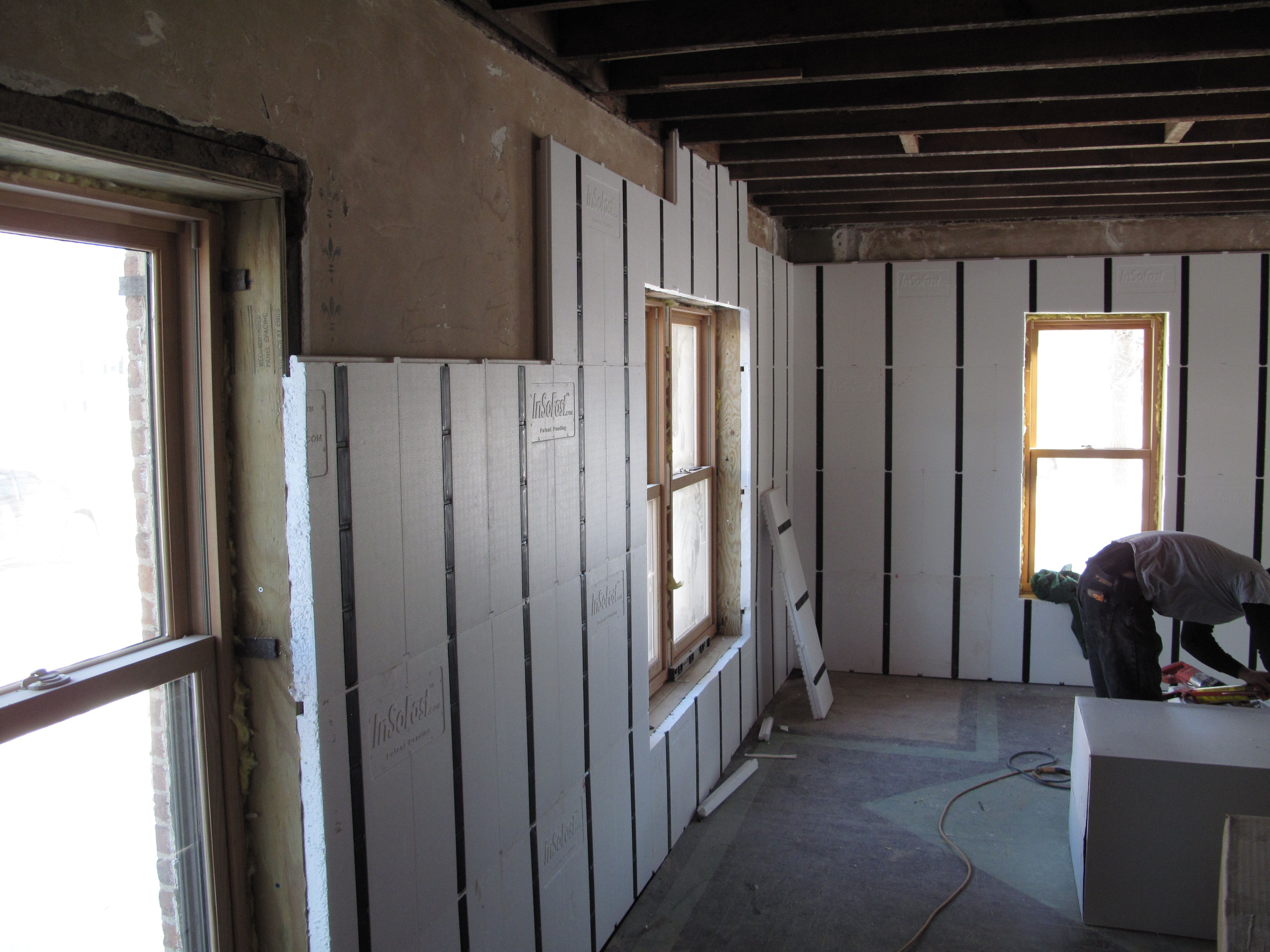 An Insofast Interior Retrofit Project If You Re Looking To Insulate A Chilly Home With Masonry Walls Insofast Makes It Easy Masonry Wall Residential Remodel
