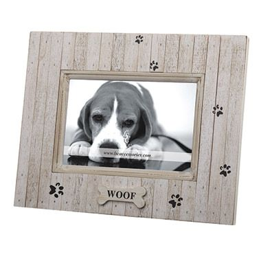 Lsc Accessories Woof Distressed Wood Pet Frame 9 99 Dog Picture
