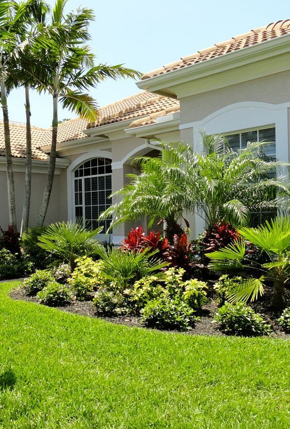 37 Flower Landscape Design Ideas To Have A Colorful Garden Backyard Landscaping Designs Small Front Yard Landscaping Tropical Backyard Landscaping