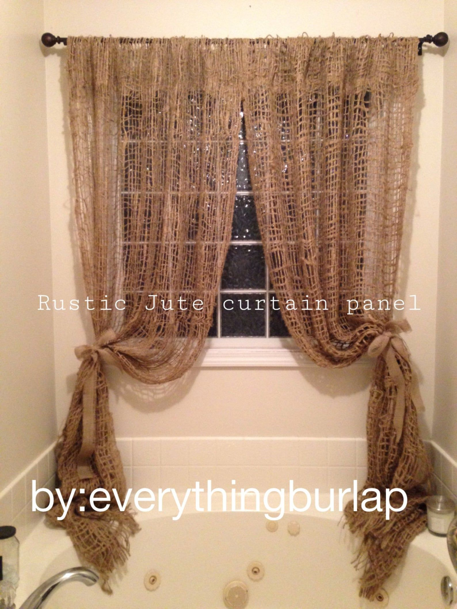 Jute Curtain Panel Etsy In 2020 Panel Curtains Curtains Paneling