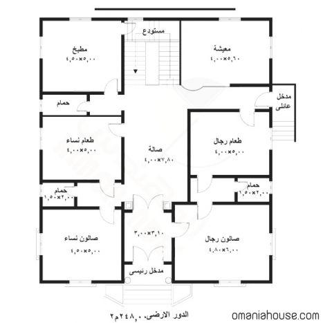 مخطط منازل Model House Plan Family House Plans House Map
