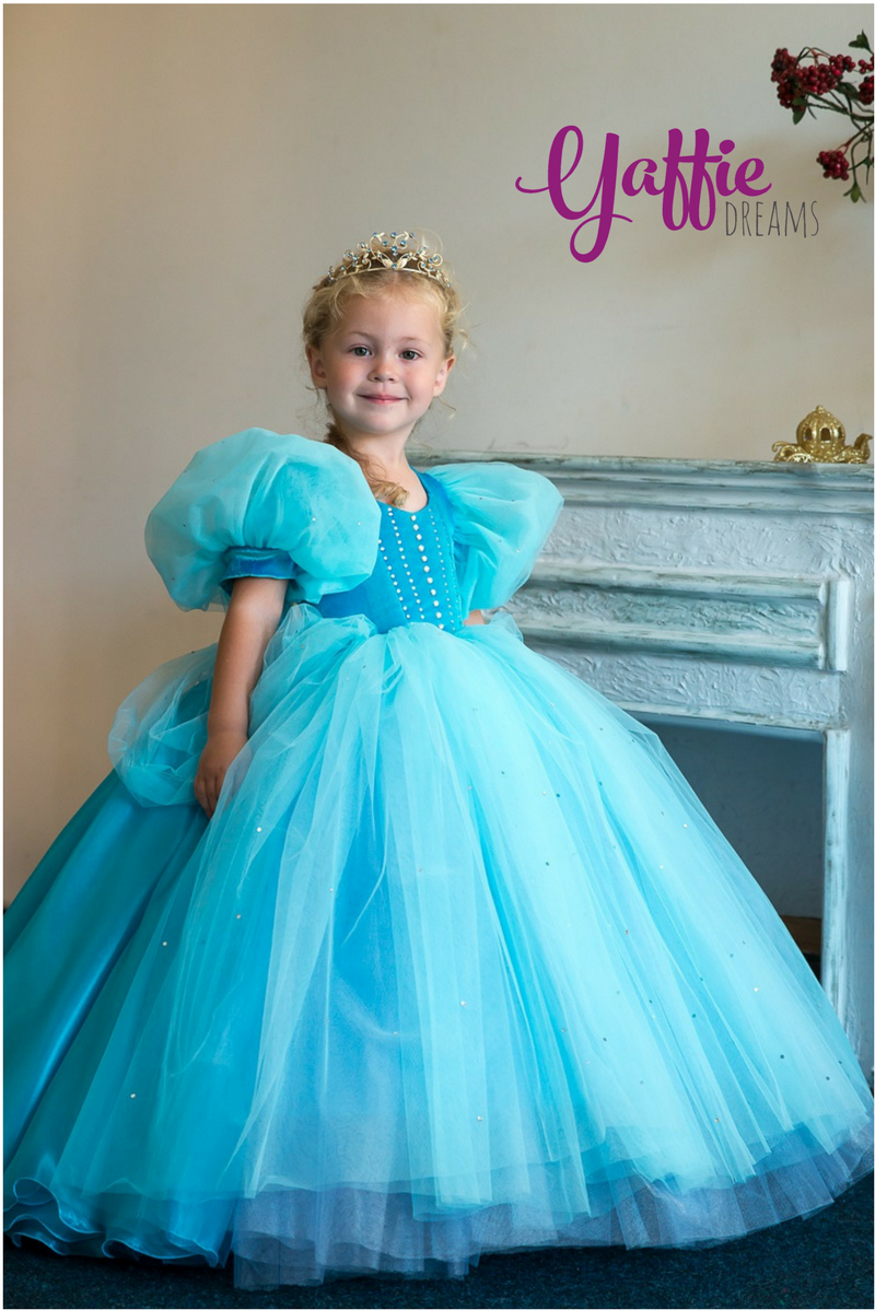Classical Disney princess Cinderella dress Halloween costume kid ...
